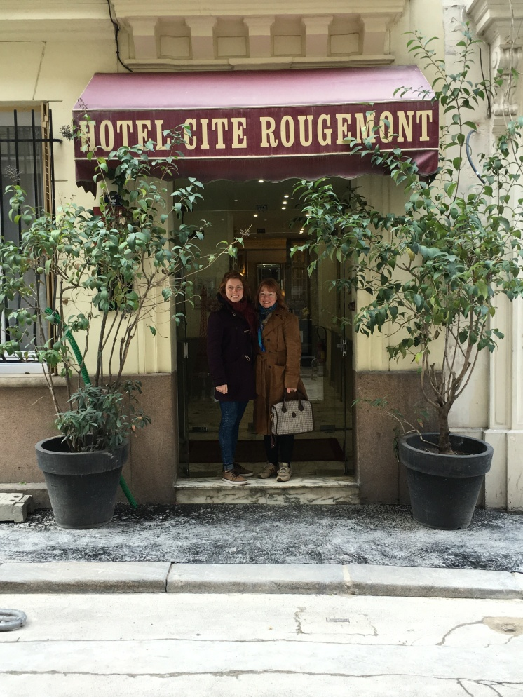 Hotel Cite Rougemont, Paris - 9th arrondissement. First visited in 1983, back in 2016 with my daughter!