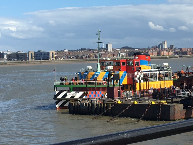 The Dazzle Ferry at Birkenhead
