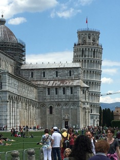 Cathedral at Pisa with the Bell Tower in the background