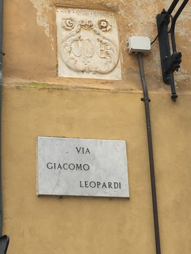 Pisa - a road named after my favourite Italian poet