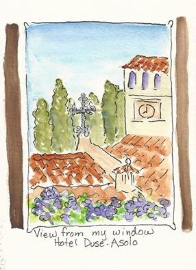 Mary Lou Peters - Artist - Asolo - The view from the window - by Mary Lou Peters. www.maryloupeters.com