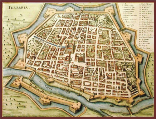 Ferrara medieval map The Educated Traveller