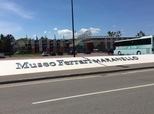 The entrance to Museo Ferrari, Maranello