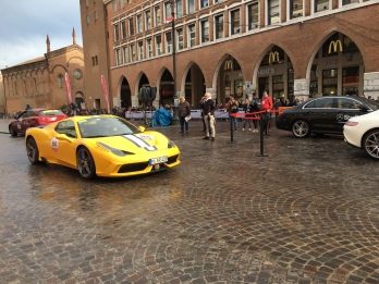 Modern Ferraris lead the Mille Miglia 2016
