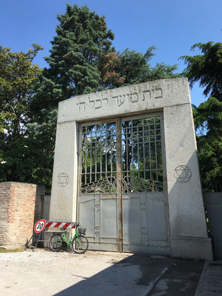 Ferrara - entrance to the Jewish Cemetery