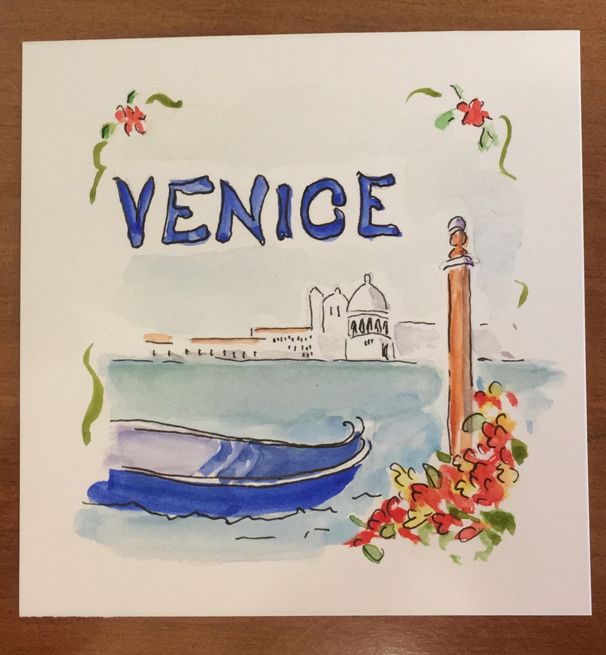 The lagoon of Venice by Mary Lou Peters - artist
