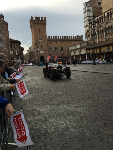 Mille Miglia 2016 - old timers arrive in Ferrara