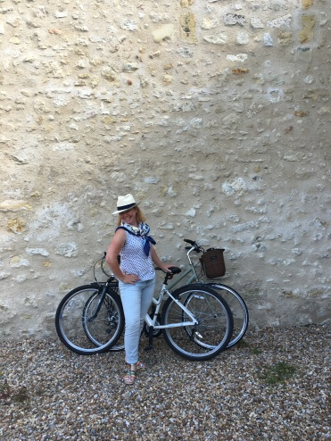 Janet trying to keep cool whilst cycling. Mind over matter you know!