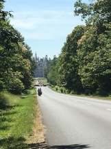Approaching Chambord - the largest of the chateaux by bike