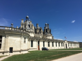 Chambord is enormous - more than 390 rooms. Built for King Francis I - building started in 1519!