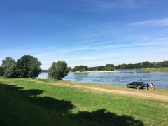 The Loire River on a sunny July day