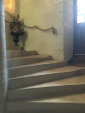 Stone staircase at Chateau de l'Islette