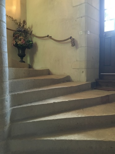 Stone staircase at Chateau de l'Islette