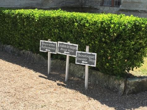 Helpful signs in the garden
