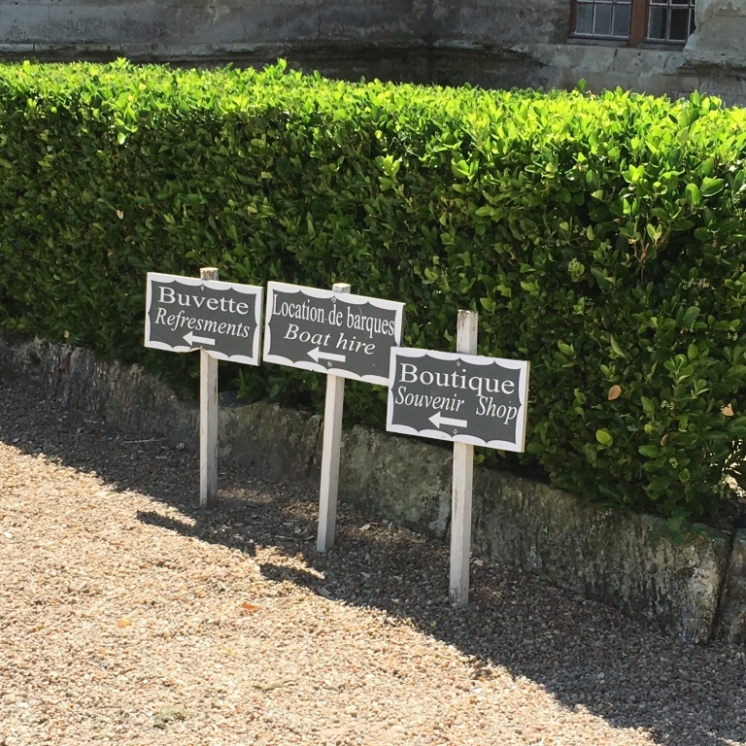 Helpful signs in the garden