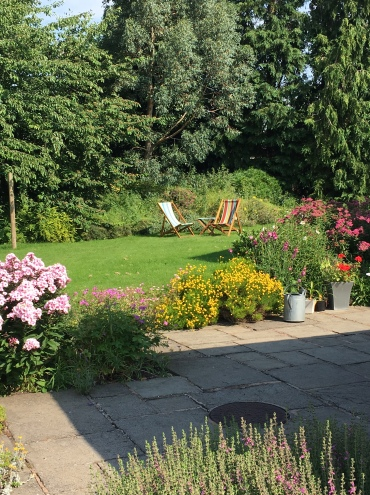The garden in summer glory.......................