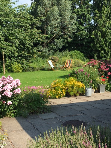 The garden in summer glory.......................