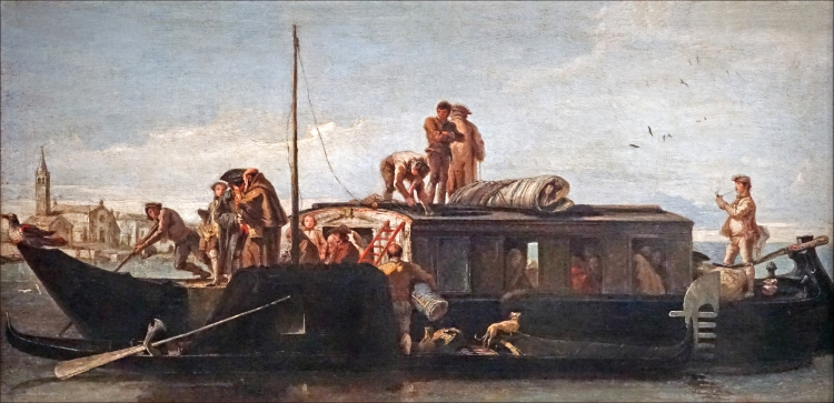 The Venetian artist Tiepolo painted the 'Burchiello' in the 18th century