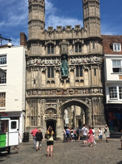 Medieval Gate leads into Canterbury Cathedral Precincts