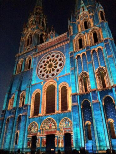 Chartres Cathedral - illuminated