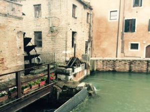 Il Molino, Dolo - a restorated water wheel on the Brenta Canal