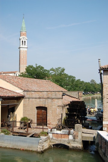 Molino at Dolo,unchanged since Canaletto's time