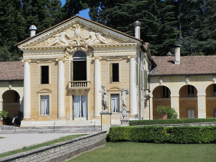 Villa Barbaro at Maser - south facing facade of Palladian villa