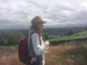 Lucy appreciates the view