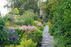 The garden leading to Beatrix Potter's home