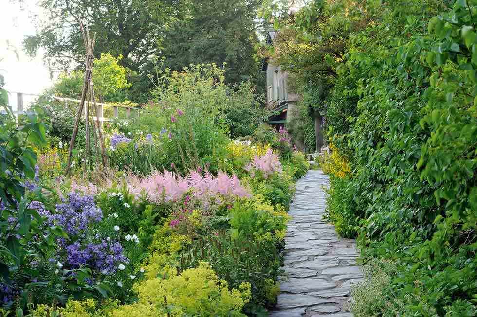 The garden path leading to Beatrix Potter's home