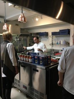 The chef debates with Francesca
