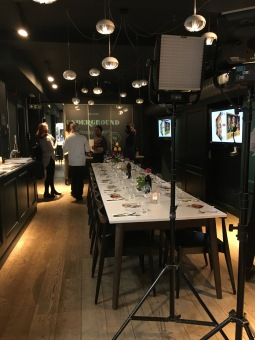 Dining at the Underground Cooking School