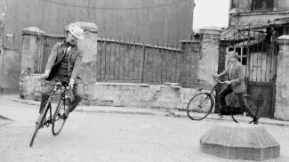 Having fun on bicycles