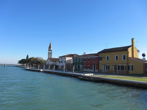 Arriving at Burano