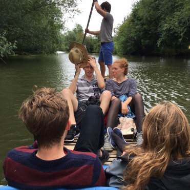 Punting on Alistair and Lucy's 21st birthday