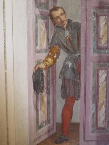 Villa Barbaro, Maser - A young boy enquires.......