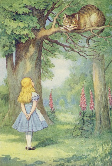 Alice meets the Cheshire Cat