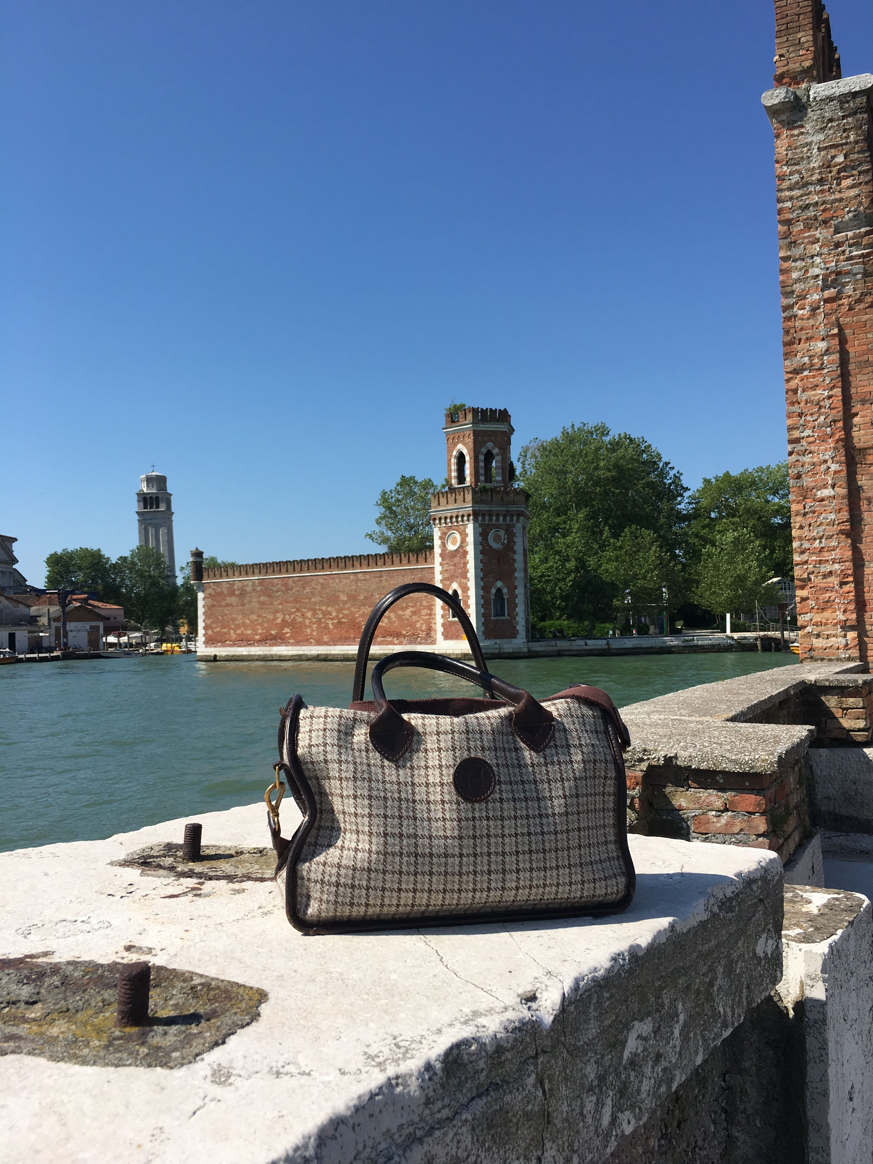 My Herdwick handbag makes an appearance in Venice at the Arsenale, ship-building yard - June 2019