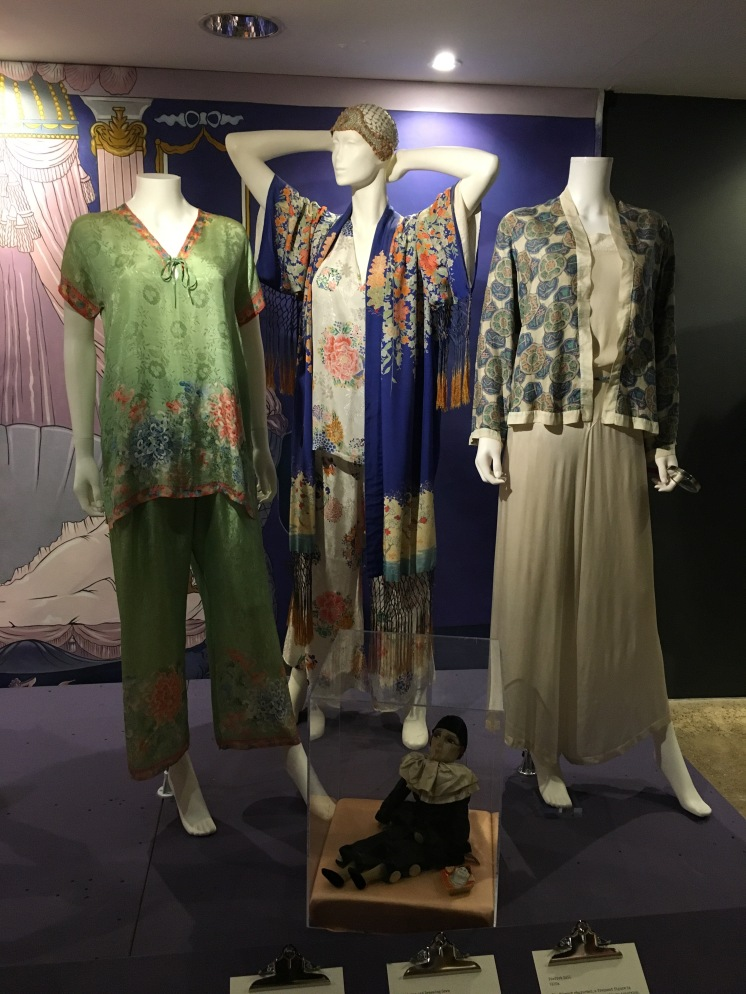 A slection of pyjama-style outfits in silk