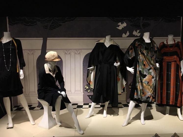 Stylish black velvet, silk and satin for the evening.
