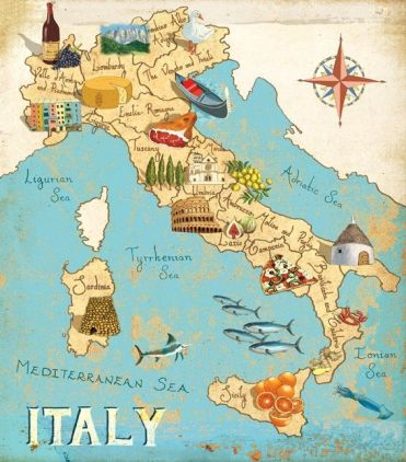 Italy - the abundance of the regions