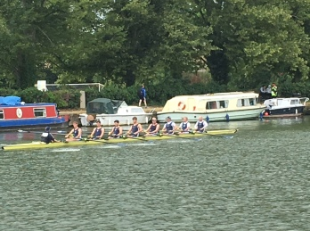 An eight on the river at Oxford