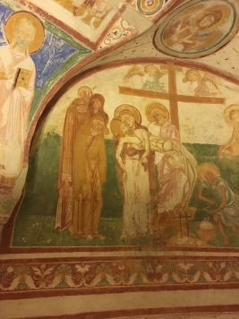 Humanistic Frescoes - Crypt 11th Century