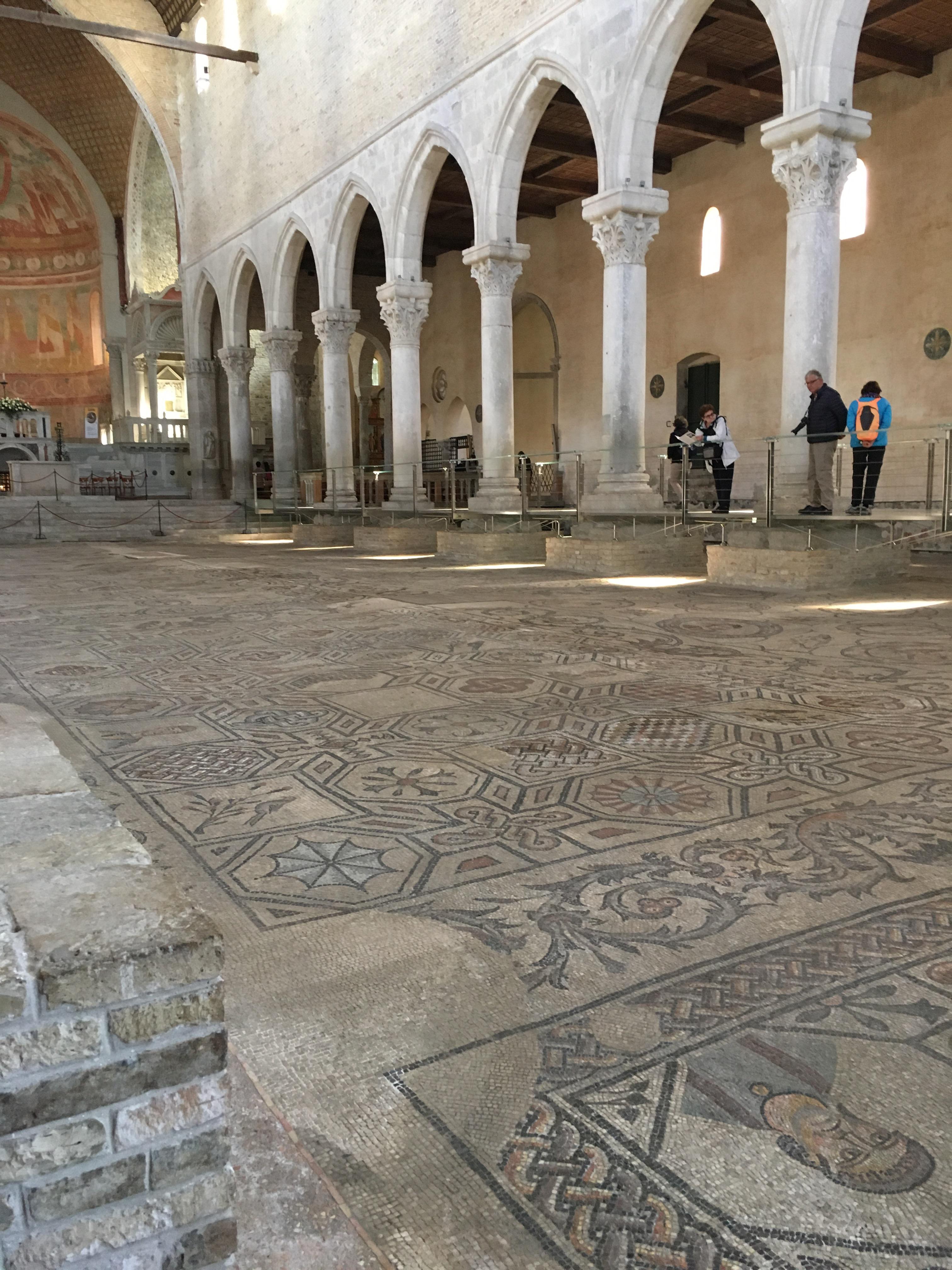 Aquileia - The Roman mosaic flooring under the basilica is vast and so impressive