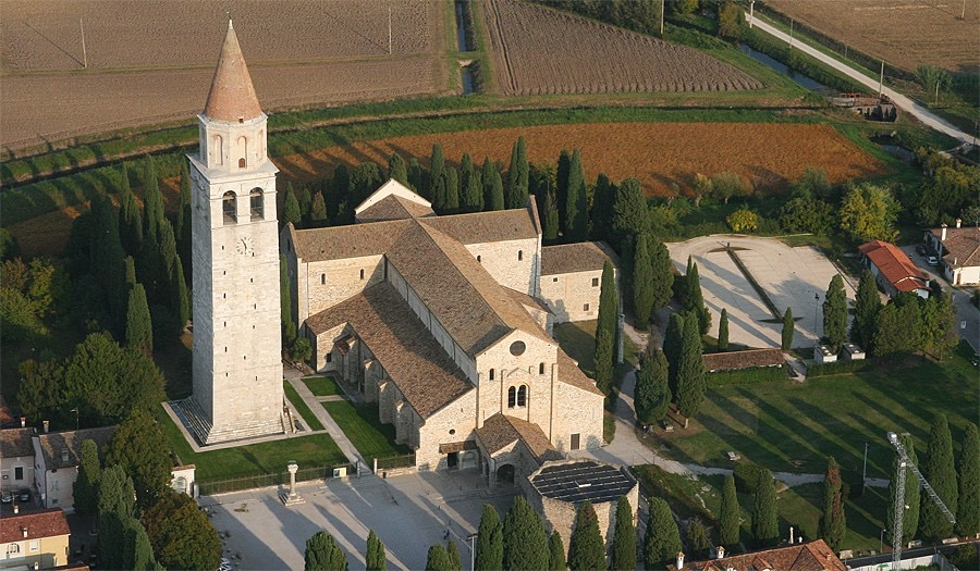 Basilica of Aquileia with its spectacular 11th century bell tower