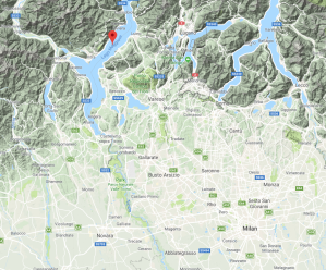 The Italian lakes of Como, Maggiore and Orta are located about an hour north and west of Milan