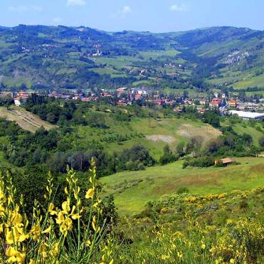 The hill towns of Emilia Romagna are perfect for truffle hunting - this is Savigno.