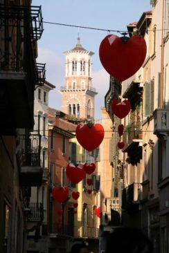 Verona - decorated streets