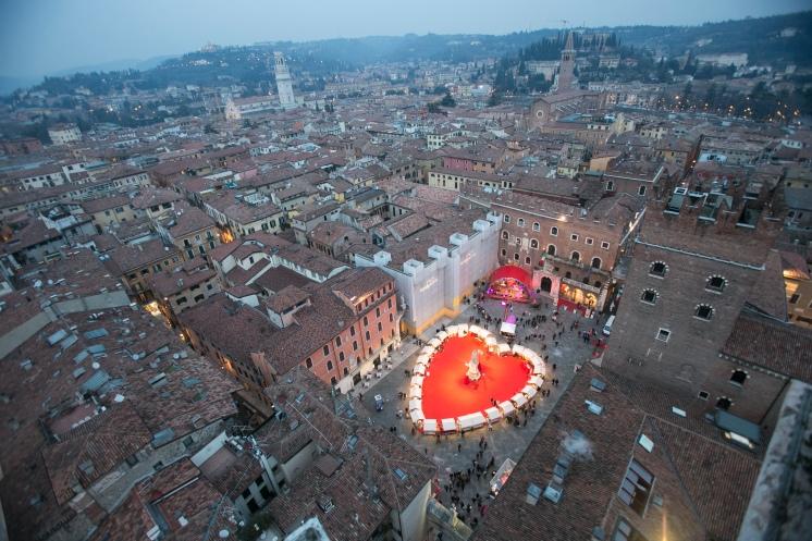 Verona - Piazza dei Signori from the air