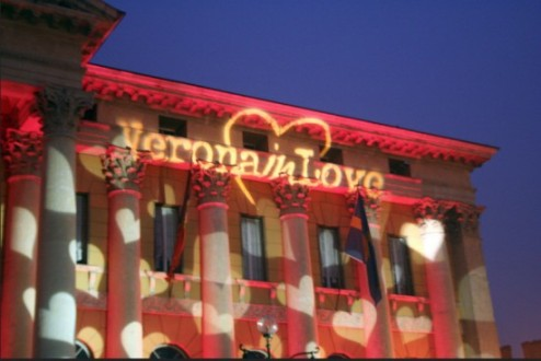 Verona - spectacular light display